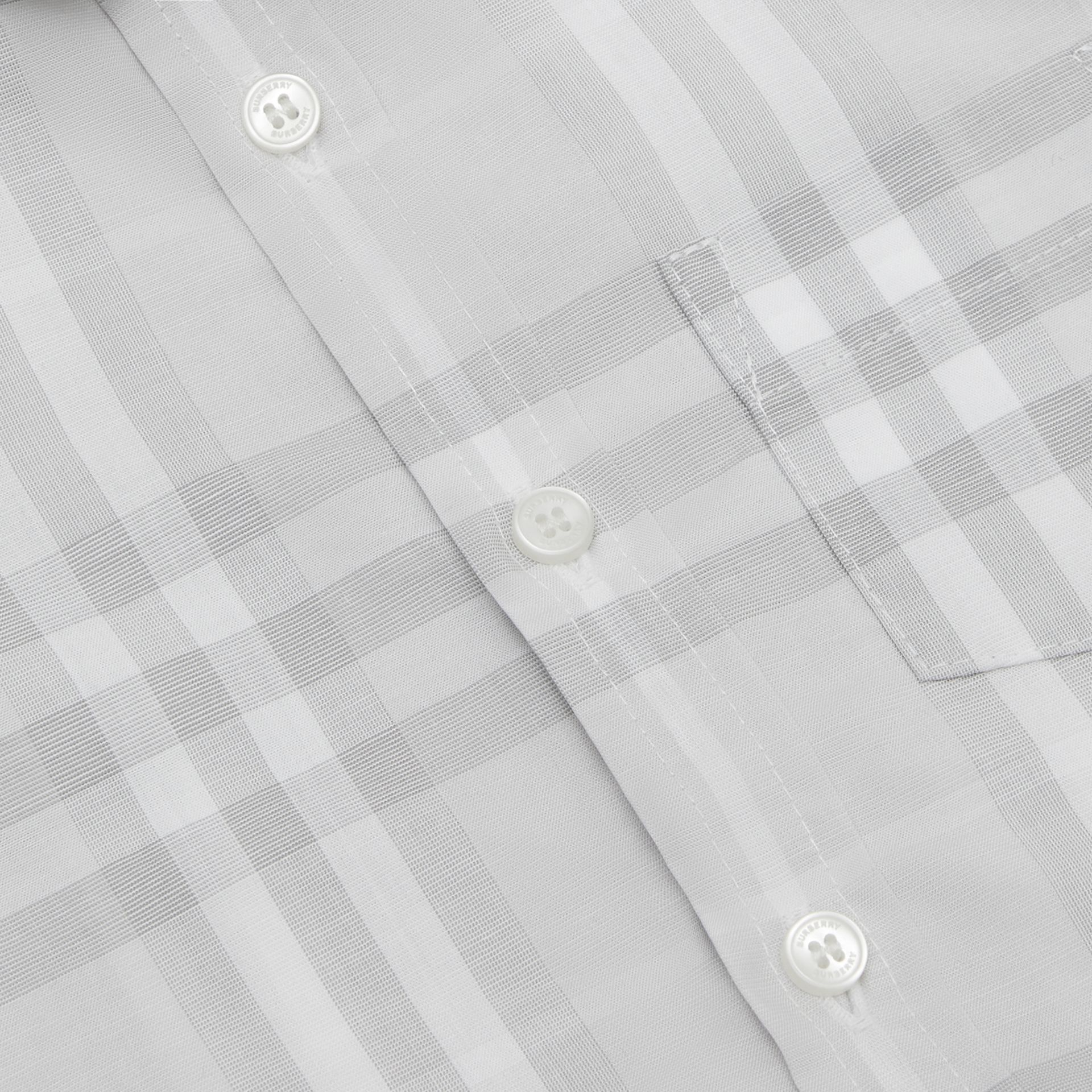 Vintage Check Cotton Shirt in Pale Grey - Children | Burberry - gallery image 1