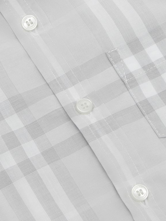 Vintage Check Cotton Shirt in Pale Grey - Children | Burberry - cell image 1
