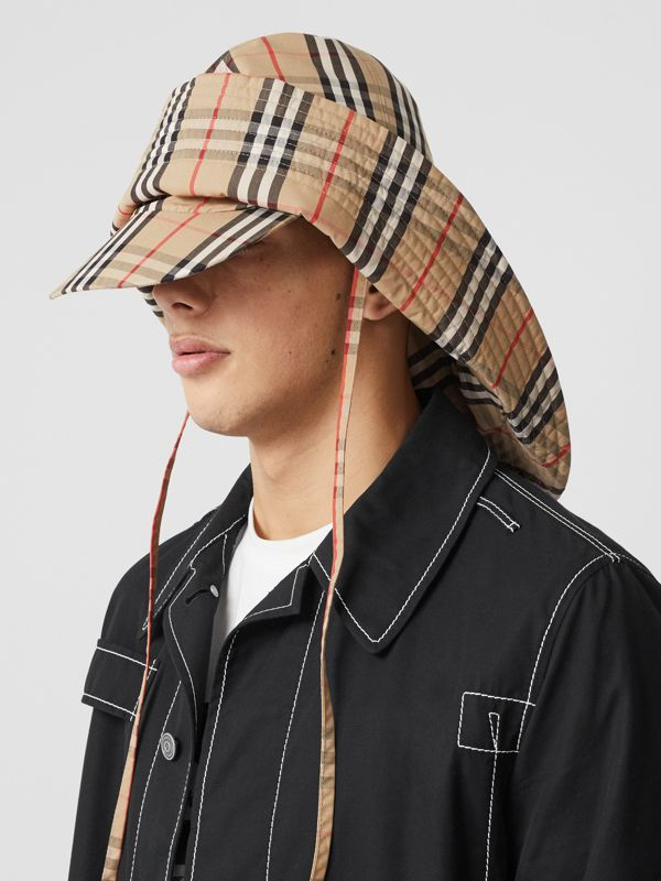 Vintage Check Rain Hat in Archive Beige | Burberry United Kingdom - cell image 2