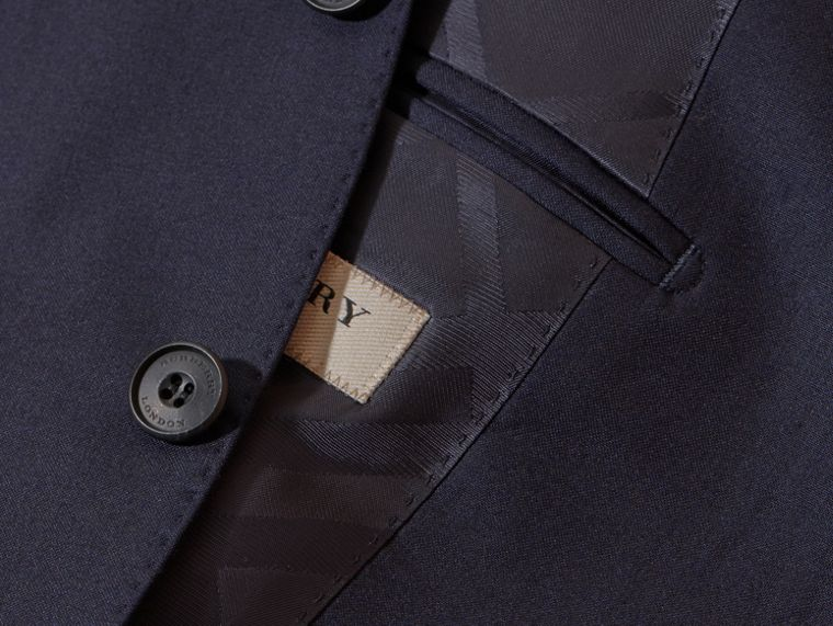 Navy Classic Fit Wool Part-canvas Suit Navy - cell image 1