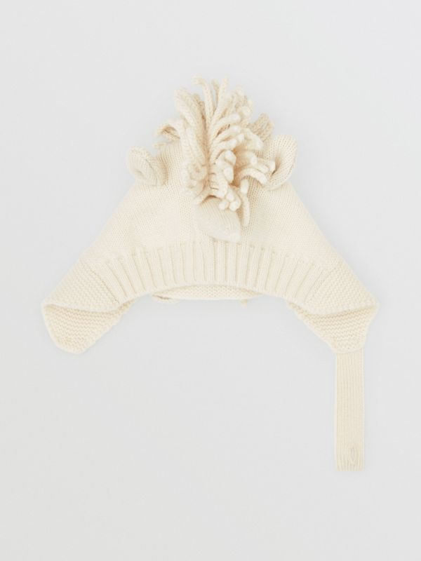 Unicorn Wool Cashmere Hat in Ivory - Children | Burberry - cell image 3