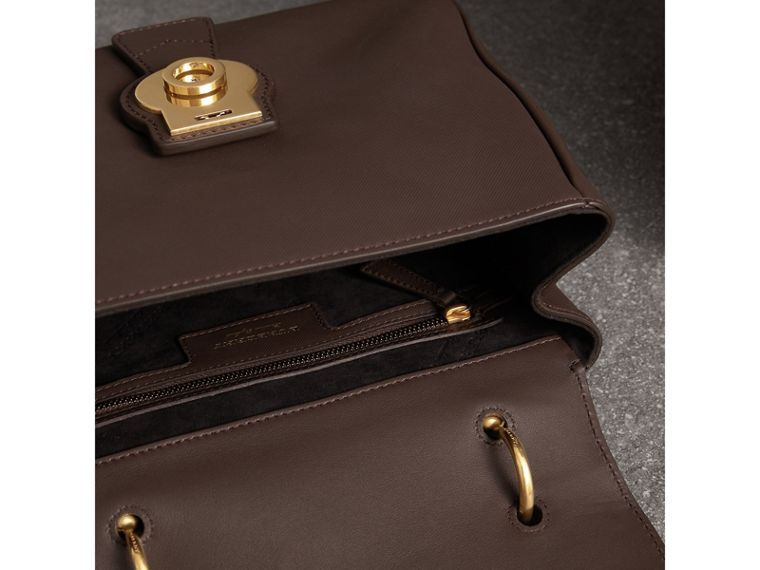 The Medium DK88 Top Handle Bag in Dark Chocolate - Women | Burberry - cell image 4