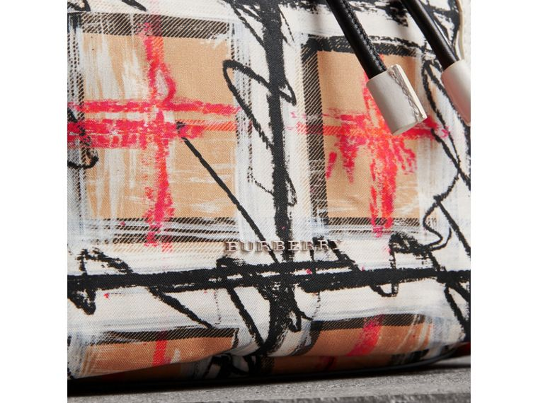 The Medium Rucksack in Scribble Vintage Check in Chalk White - Women | Burberry United Kingdom - cell image 1