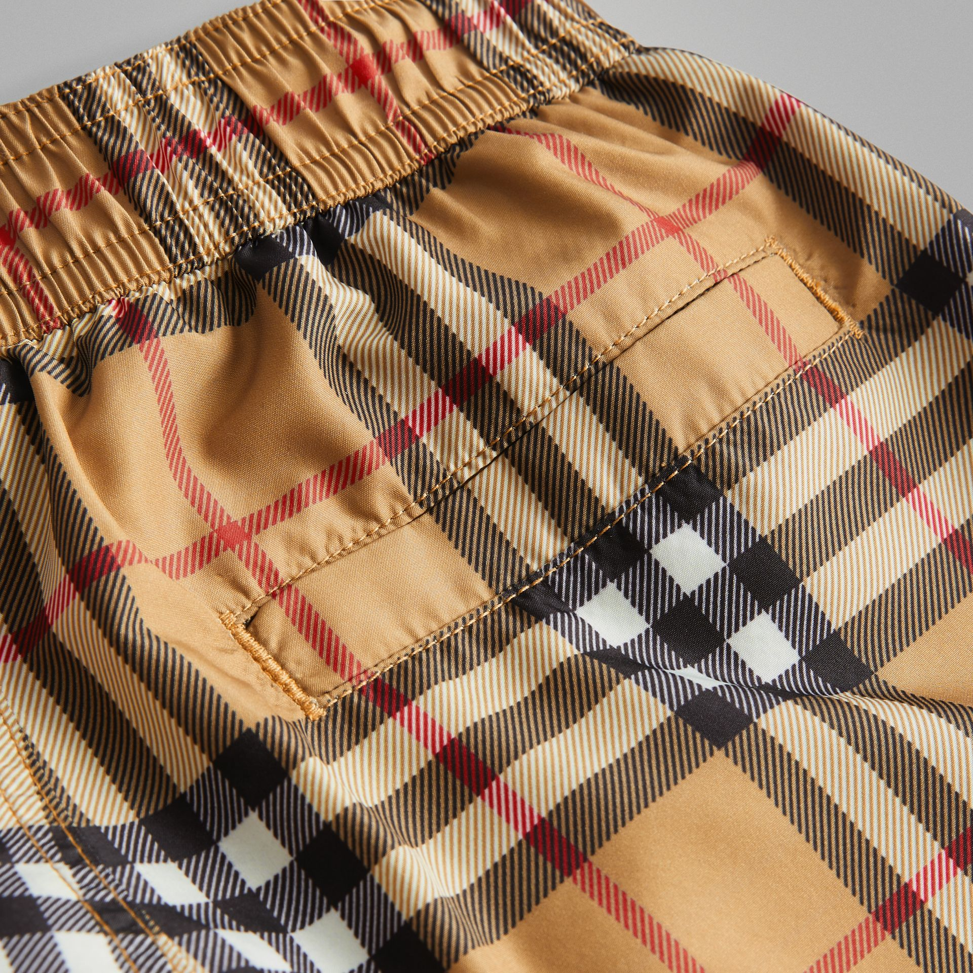 Vintage Check Swim Shorts in Antique Yellow | Burberry - gallery image 1