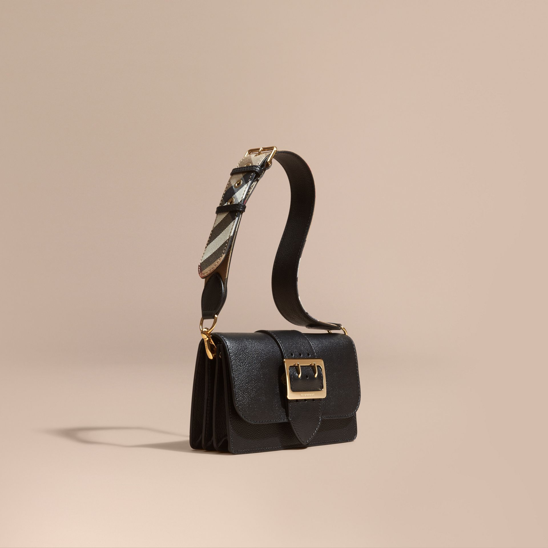 Black The Small Buckle Bag in Leather - gallery image 1