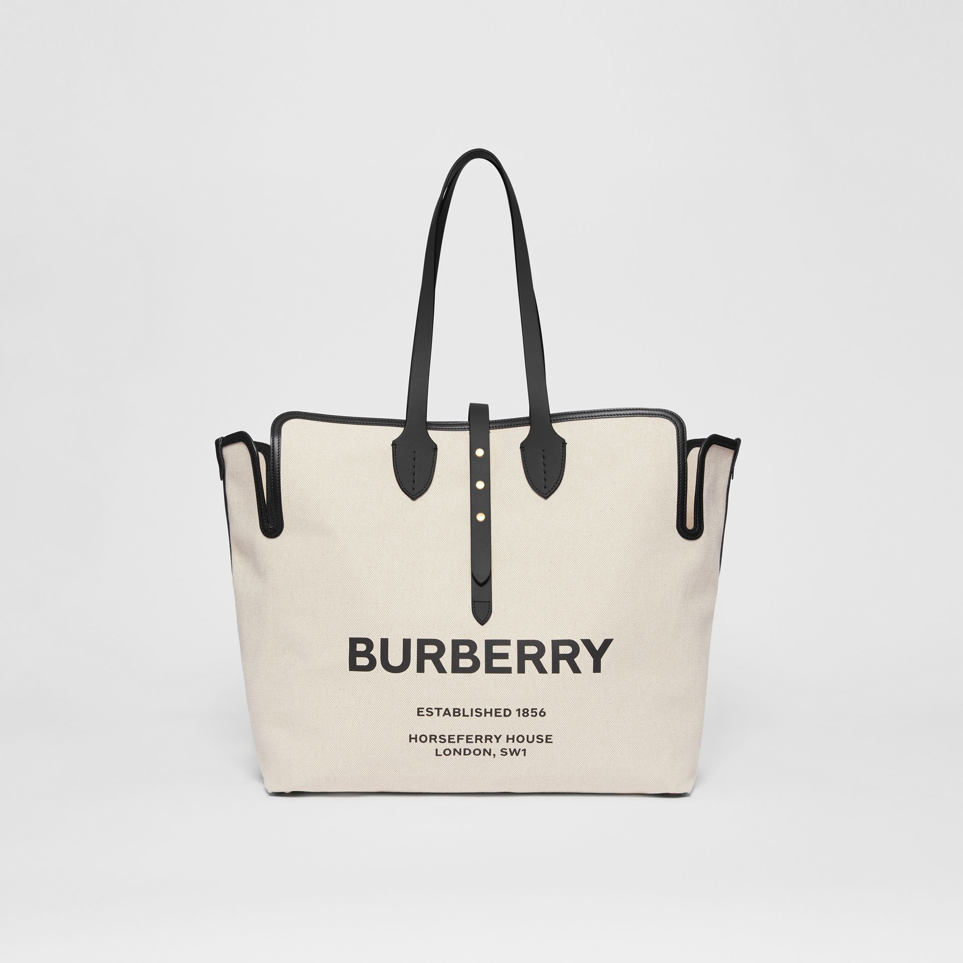 The Medium Soft Cotton Canvas Belt Bag in Black - Women | Burberry Singapore - gallery image 0