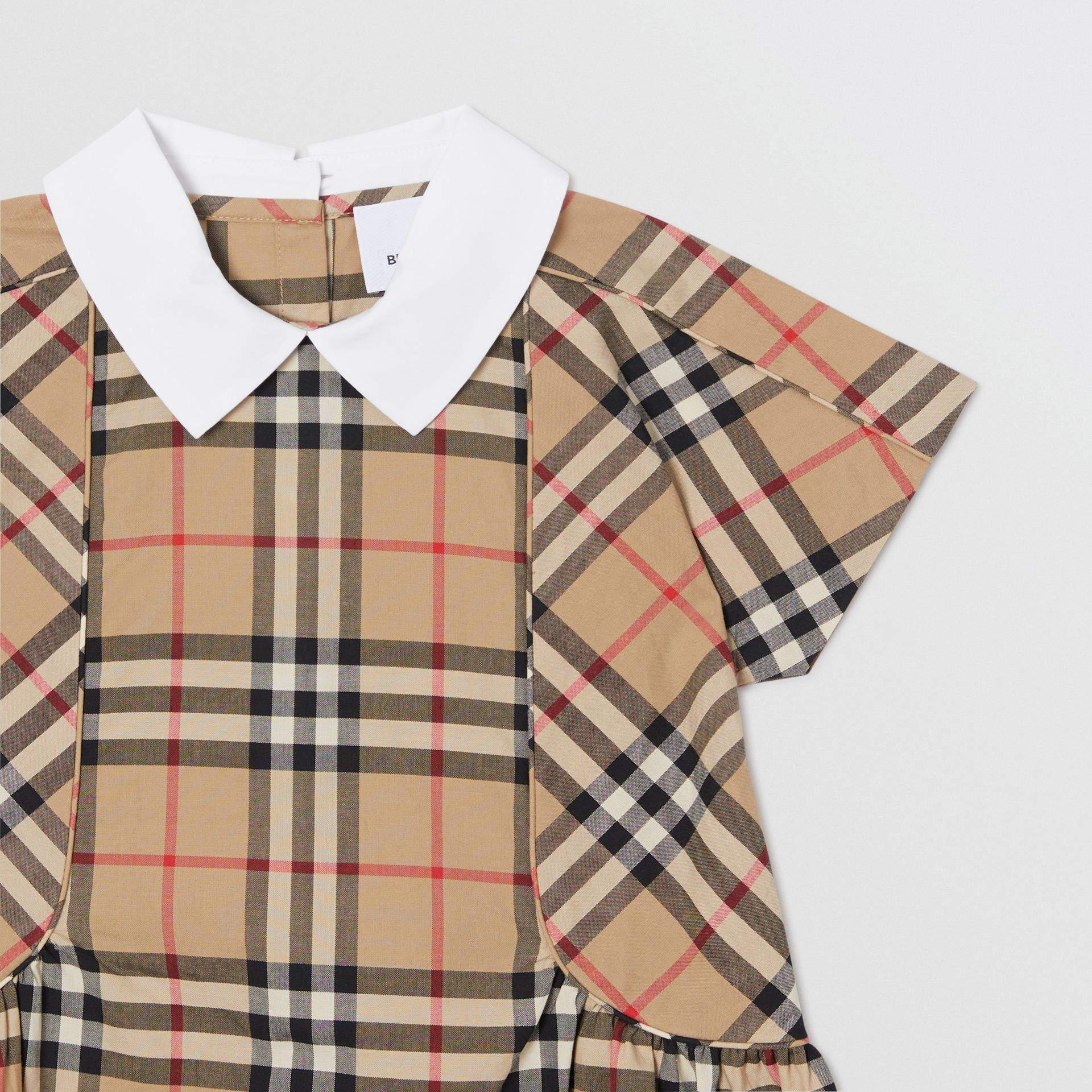 Robe en coton Vintage check (Beige D'archive) - Enfant | Burberry - photo de la galerie 4