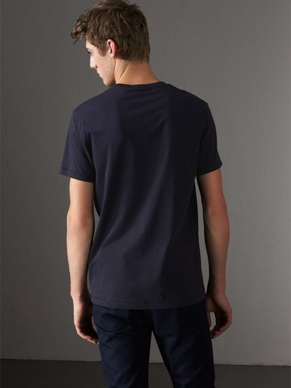 Cotton Jersey T-shirt in Navy - Men | Burberry Hong Kong - cell image 2