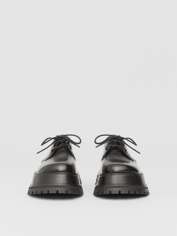 Leather Derby Shoes in Black - Women | Burberry - cell image 2