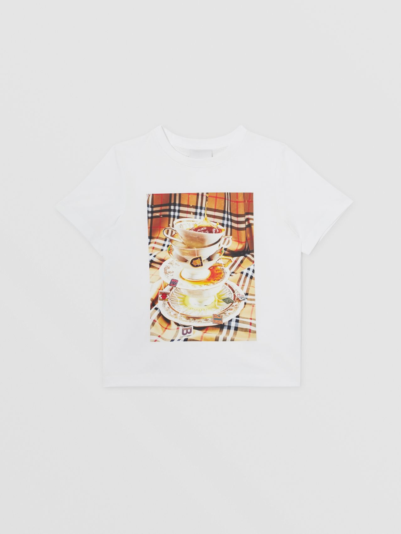 Teacup Print T-shirt in Multicolour