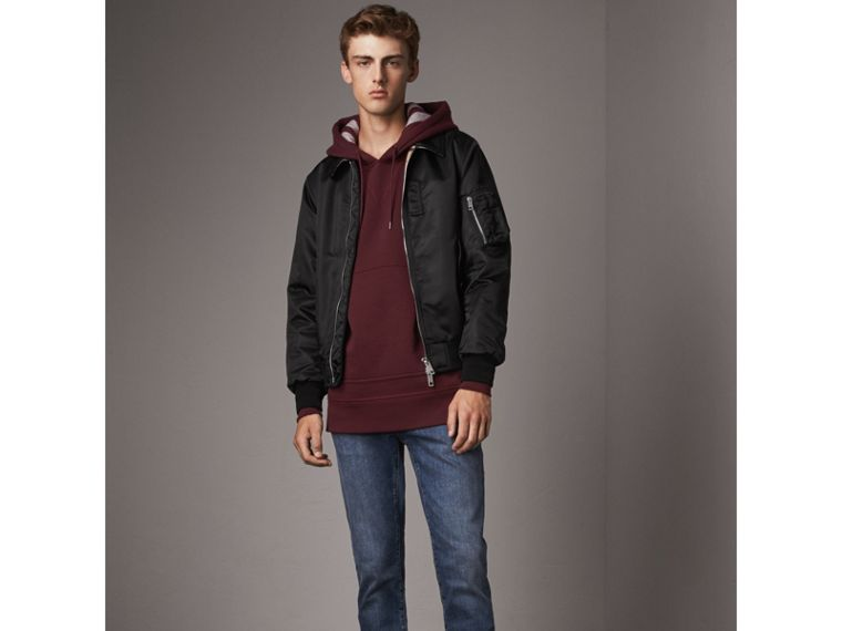 Point Collar Bomber Jacket in Black - Men | Burberry - cell image 4
