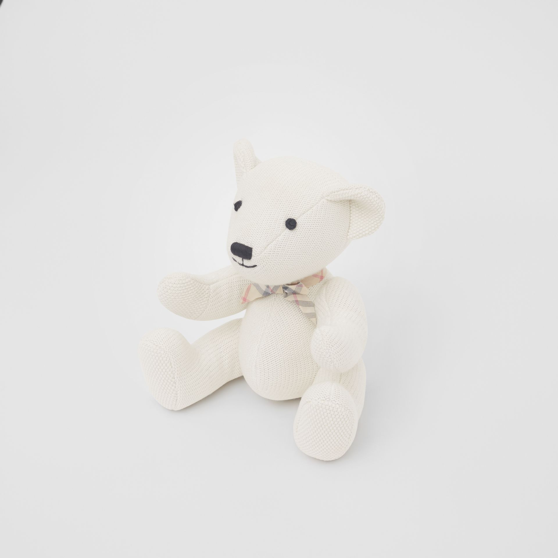 Cotton Cashmere Thomas Bear in Ivory - Children | Burberry - gallery image 2