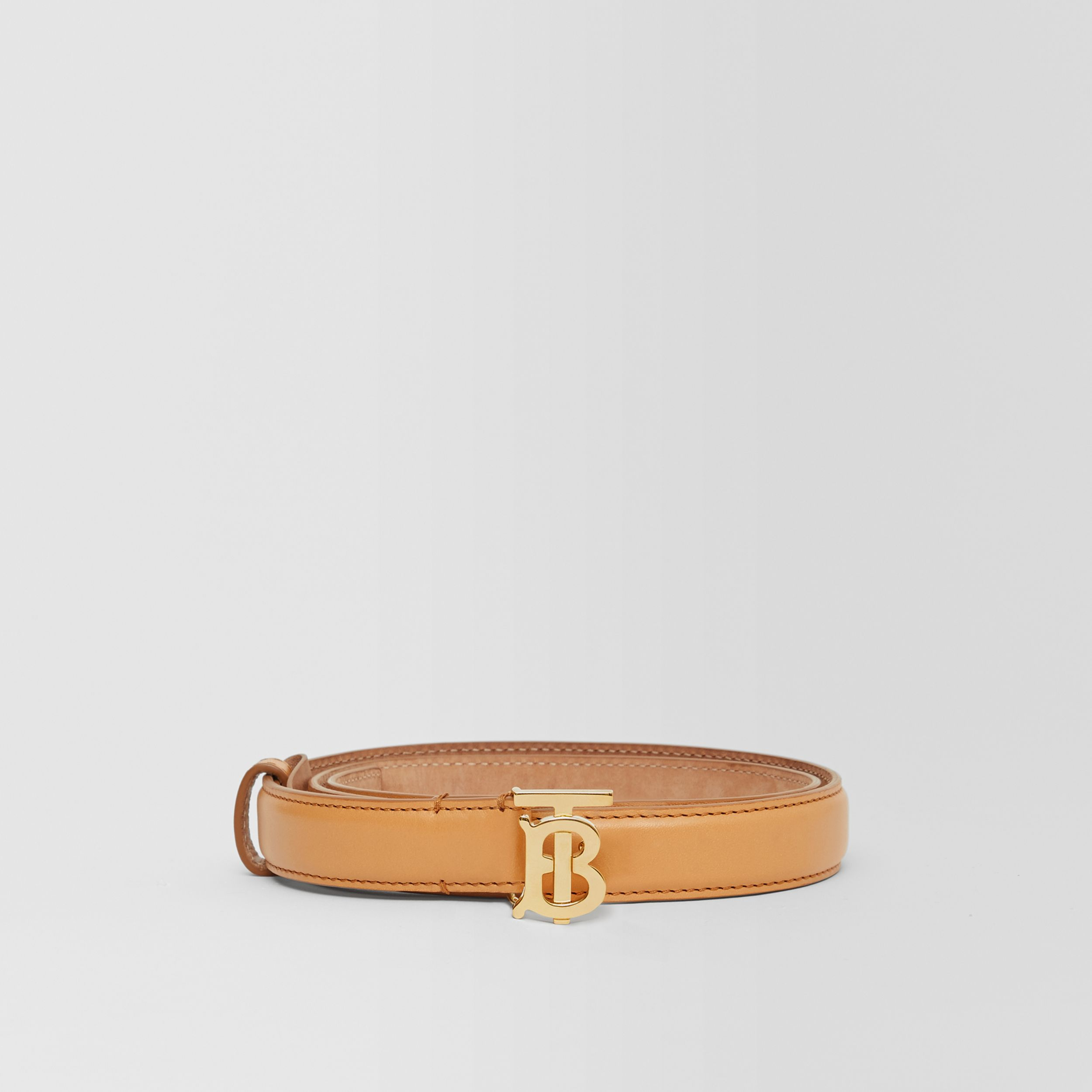 Monogram Motif Leather Belt in Warms Sand - Women | Burberry Hong Kong S.A.R. - 4