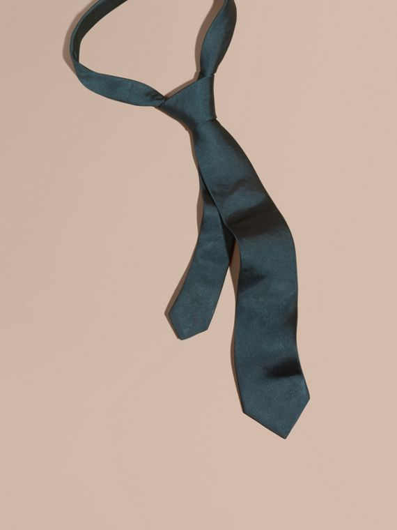 Modern Cut Silk Twill Tie Green/black
