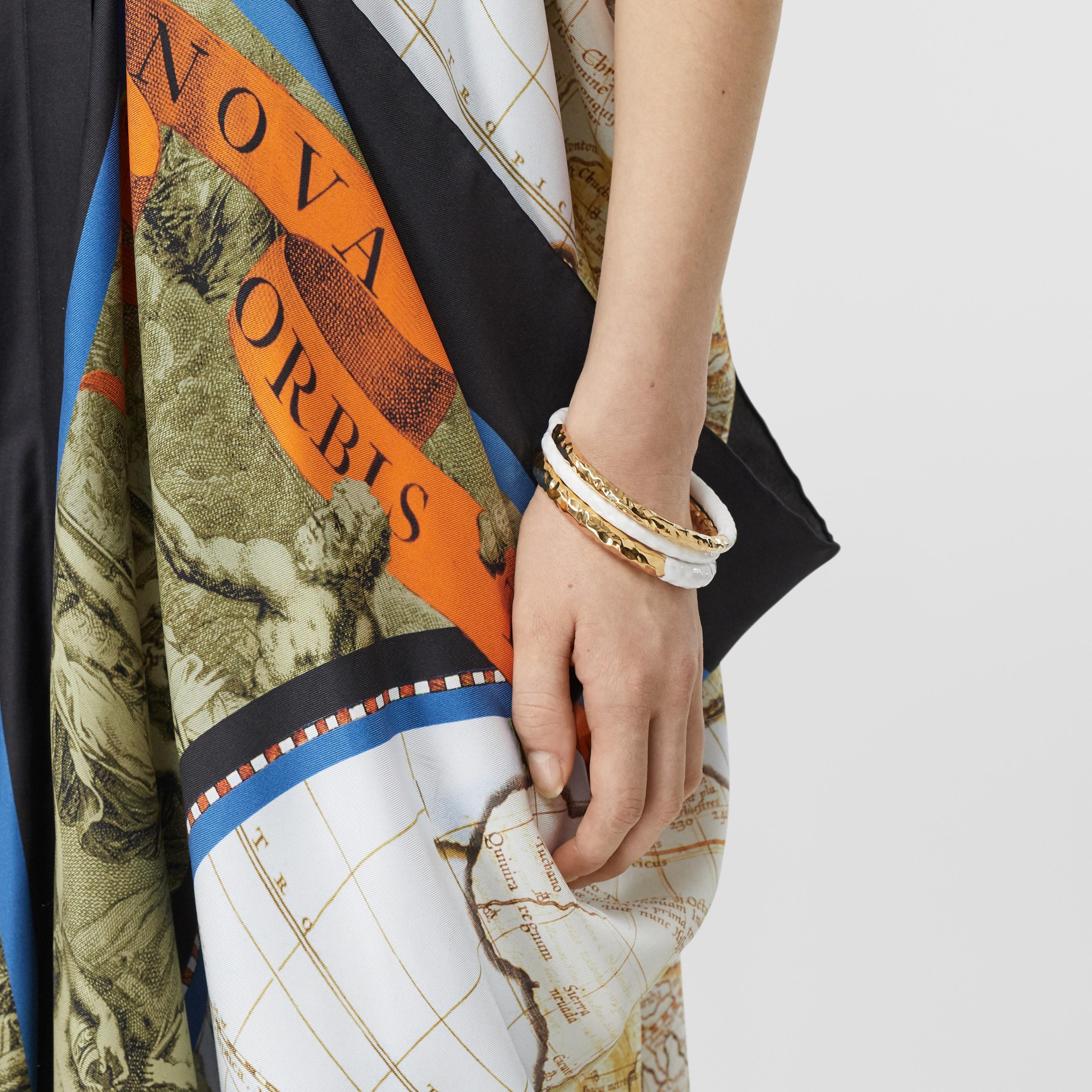 Bracciale placcato in oro con dettaglio smaltato (Chiaro/bianco) - Donna | Burberry - 3