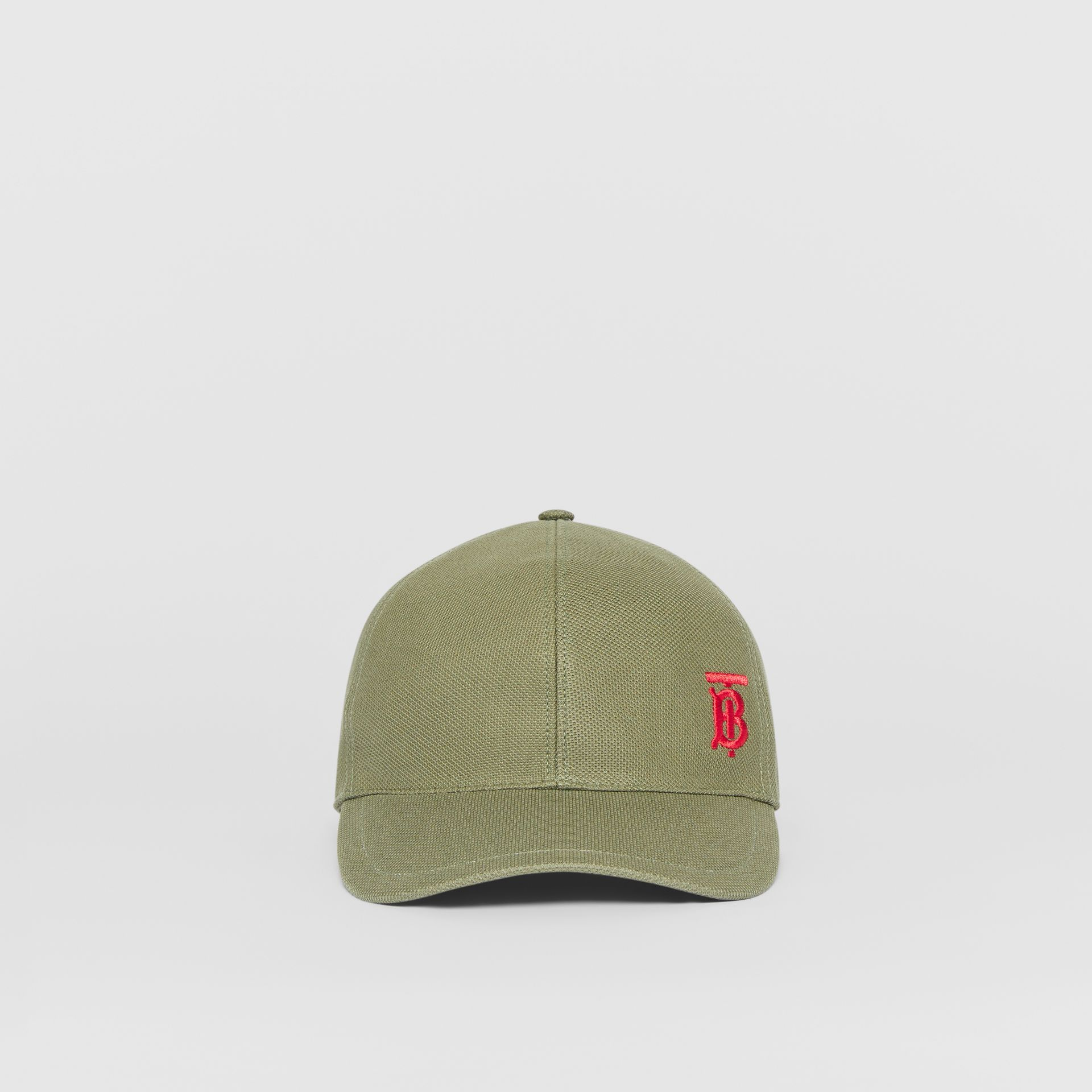 Monogram Motif Baseball Cap in Poplar Green | Burberry Canada - gallery image 3