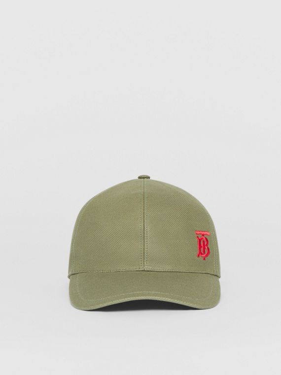 Monogram Motif Baseball Cap in Poplar Green
