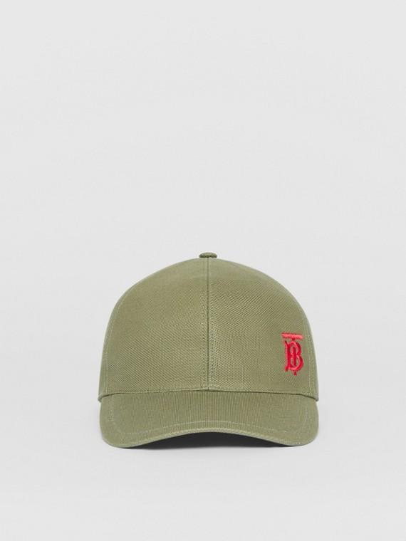 Boné de beisebol com monograma (Verde Álamo)