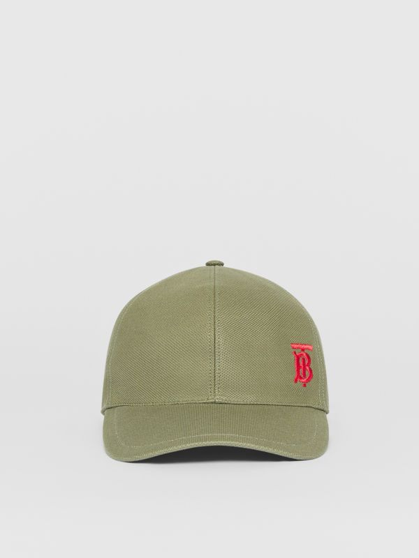 Monogram Motif Baseball Cap in Poplar Green | Burberry Canada - cell image 3