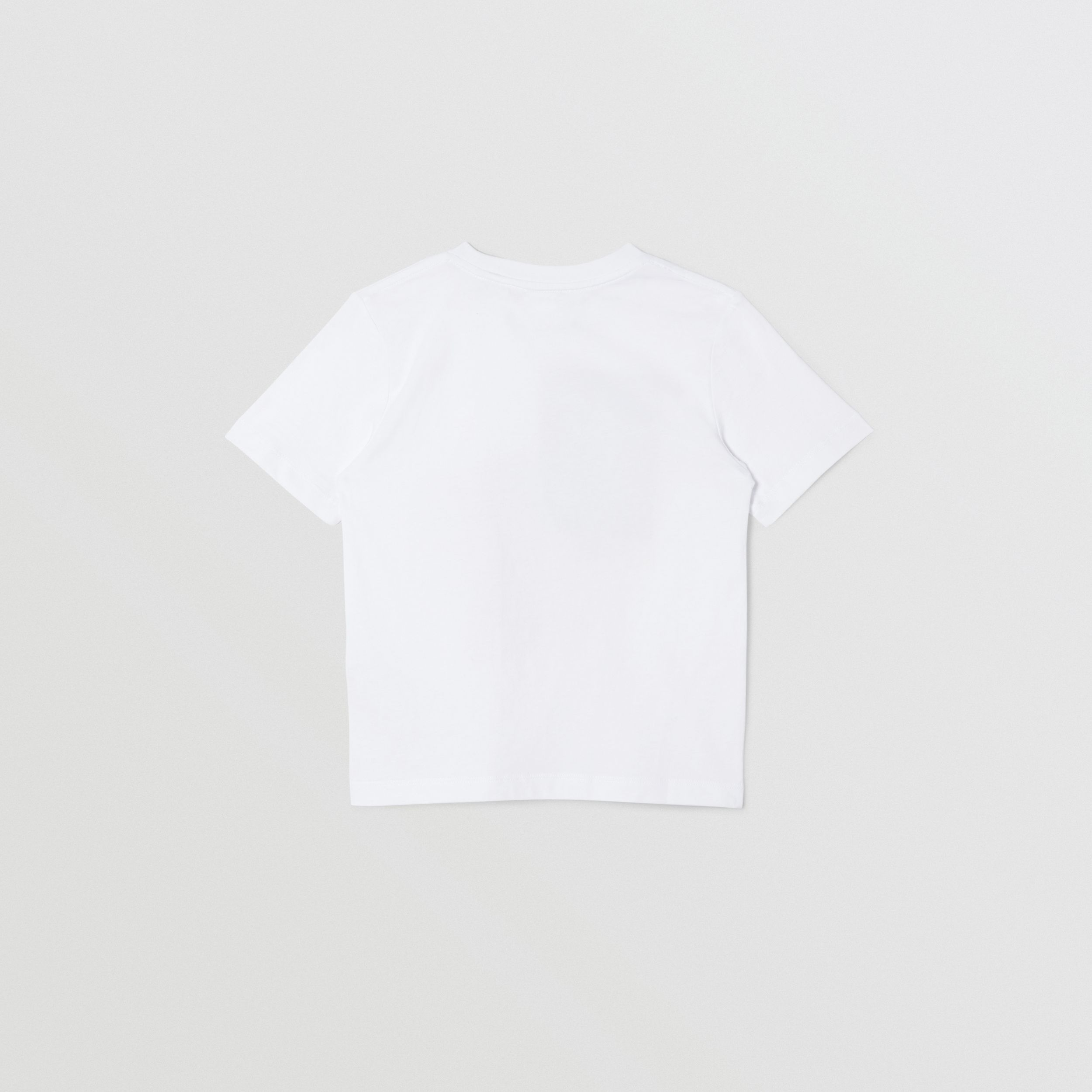 Collage Print Cotton T-shirt in White | Burberry - 4