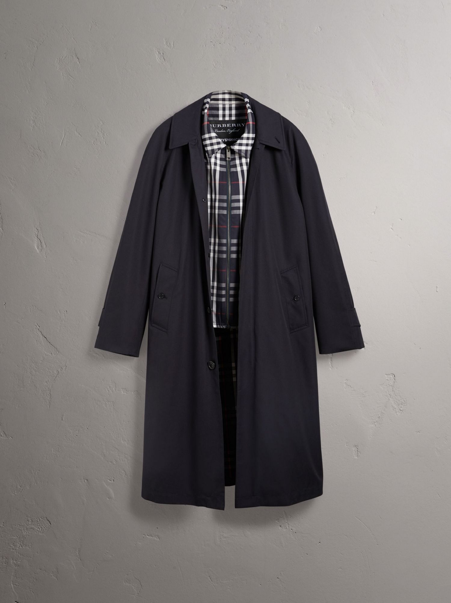 Gosha x Burberry Reconstructed Car Coat in Navy