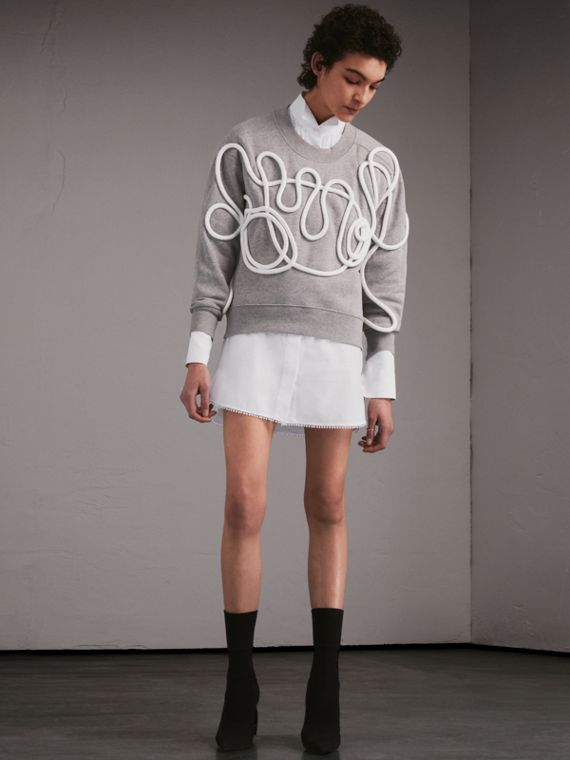 Unisex Brushed-back Jersey Sweatshirt with Rope Detail