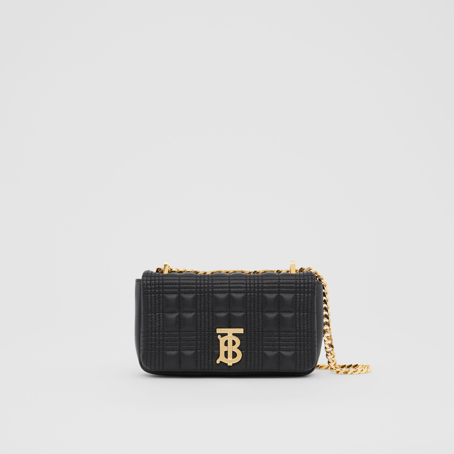 Mini Quilted Lambskin Lola Bag in Black/light Gold - Women | Burberry - gallery image 0