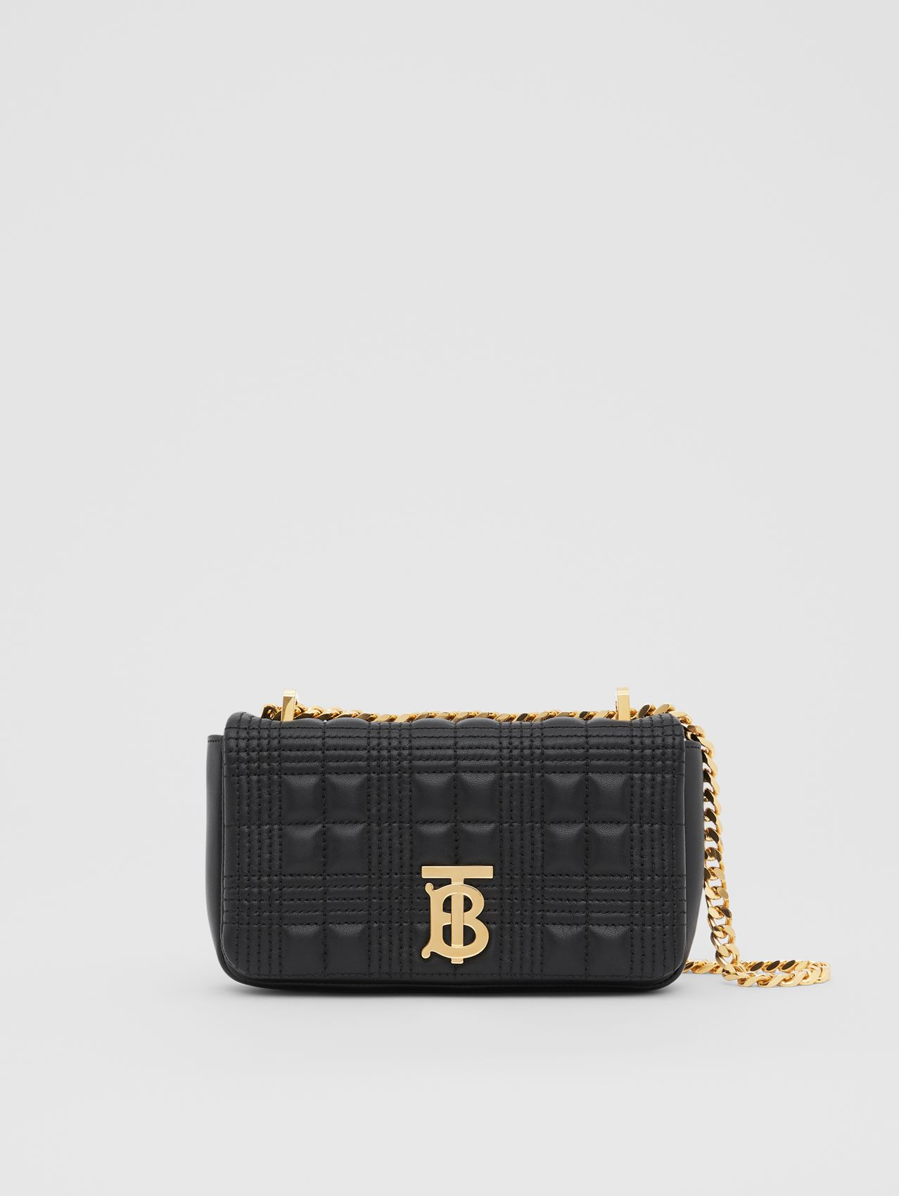 Mini Quilted Lambskin Lola Bag (Black/light Gold)