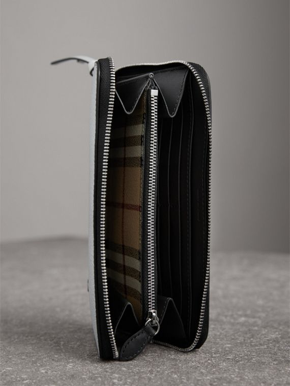Creature Appliqué Metallic Leather Ziparound Wallet in Silver - Women | Burberry Australia - cell image 3