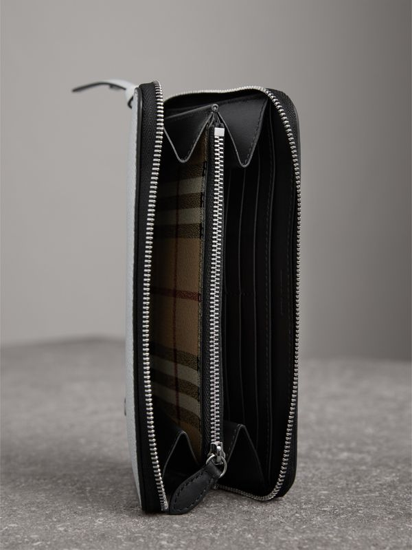 Creature Appliqué Metallic Leather Ziparound Wallet in Silver - Women | Burberry - cell image 3