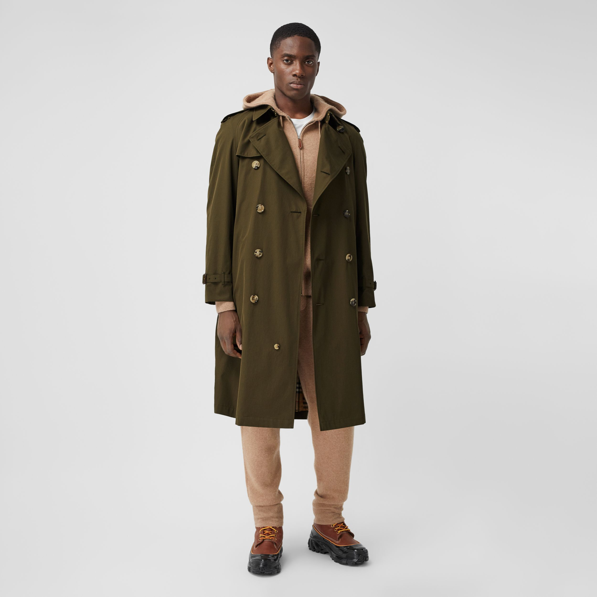 The Westminster Heritage Trench Coat in Dark Military Khaki - Men | Burberry - 1