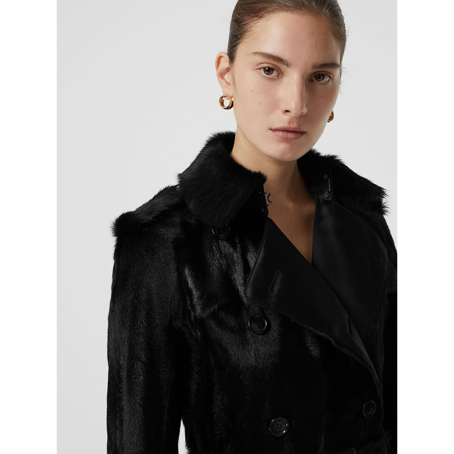Goat Trench Coat in Black - Women | Burberry - gallery image 1