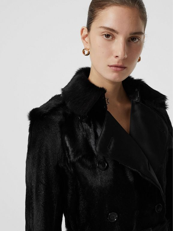Goat Trench Coat in Black - Women | Burberry Australia - cell image 1