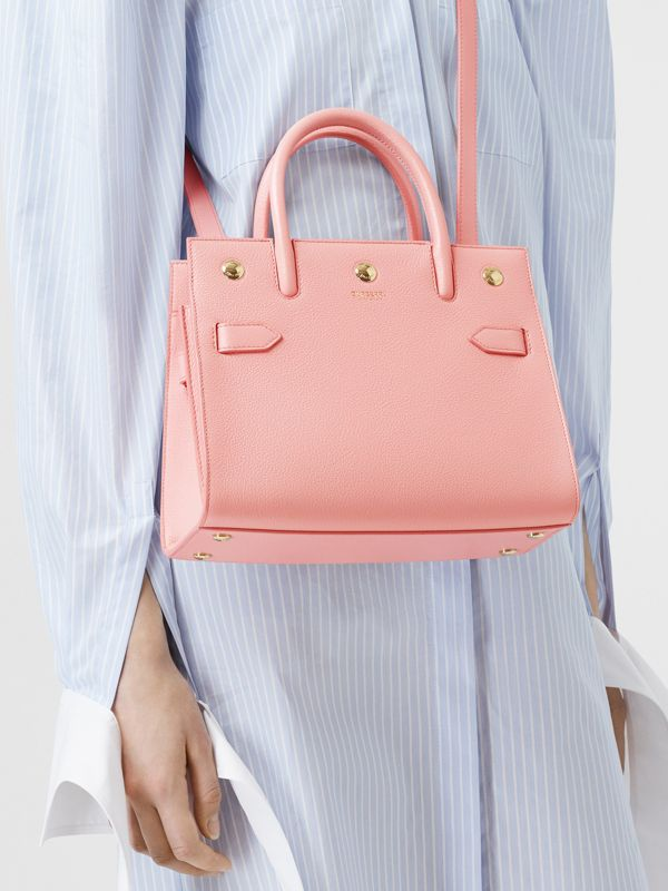 Mini Leather Two-handle Title Bag in Blush Pink - Women | Burberry United Kingdom - cell image 2