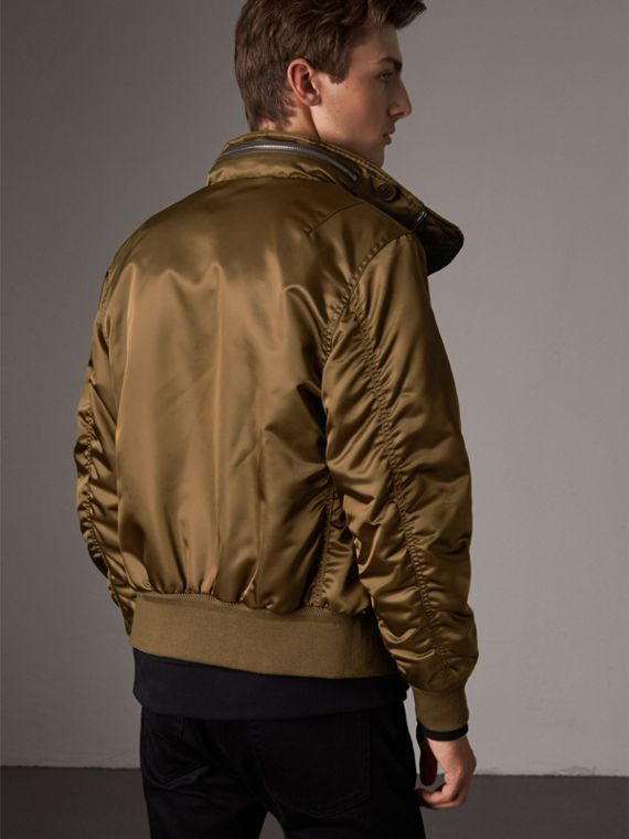 Nylon Bomber Jacket with Packaway Hood in Khaki Brown - Men | Burberry - cell image 2
