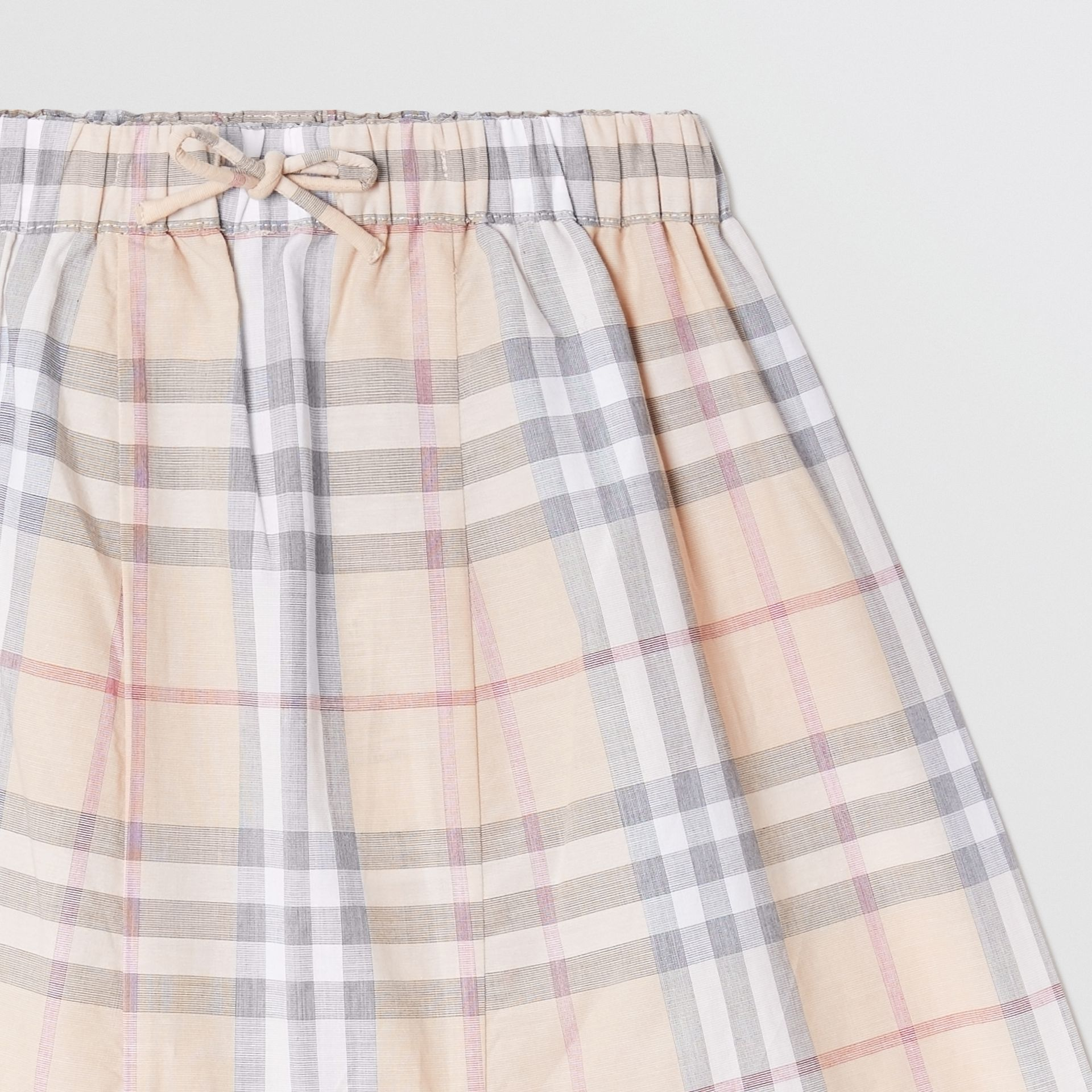Vintage Check Cotton Drawcord Trousers in Pale Stone - Children | Burberry - gallery image 4