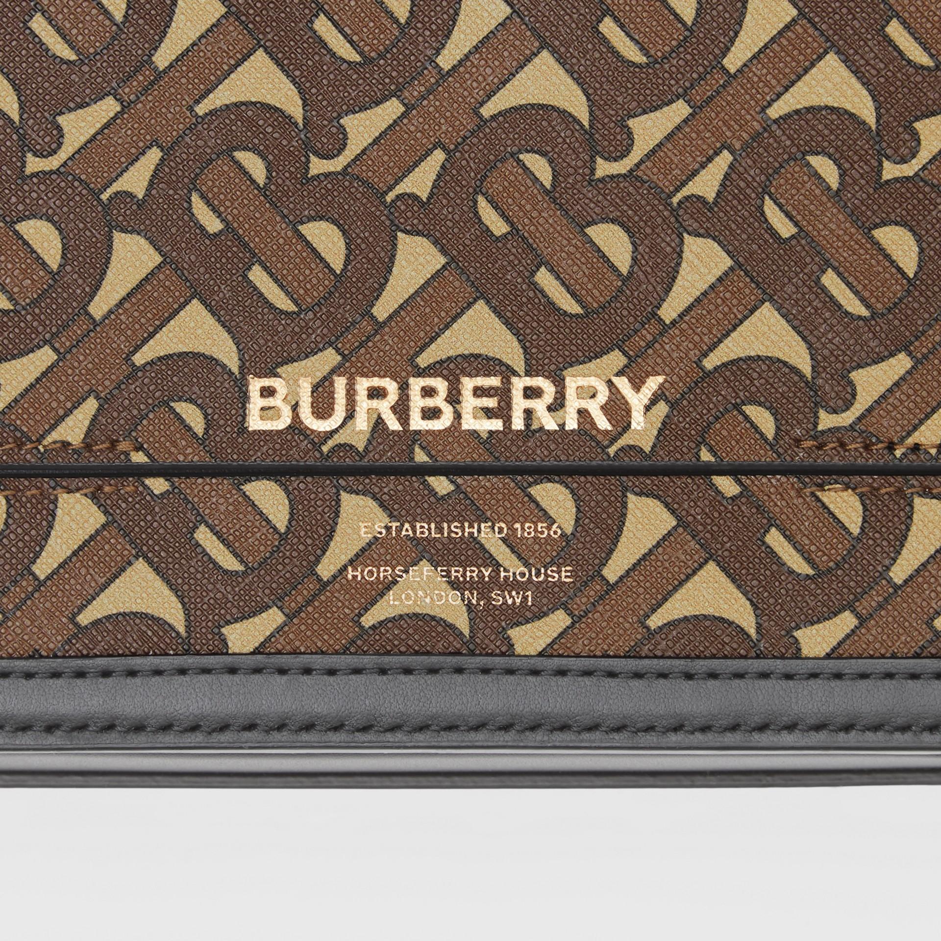 Petit sac Grace en toile écologique Monogram (Brun Bride) - Femme | Burberry - photo de la galerie 1