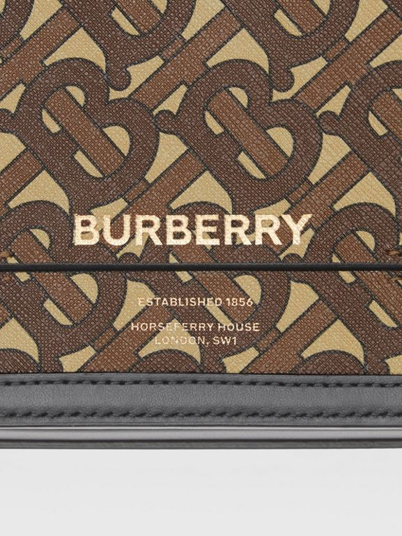 Small Monogram Print E-canvas Grace Bag in Bridle Brown - Women | Burberry United States - cell image 1