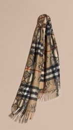 The Classic Cashmere Scarf in Check and Python Print