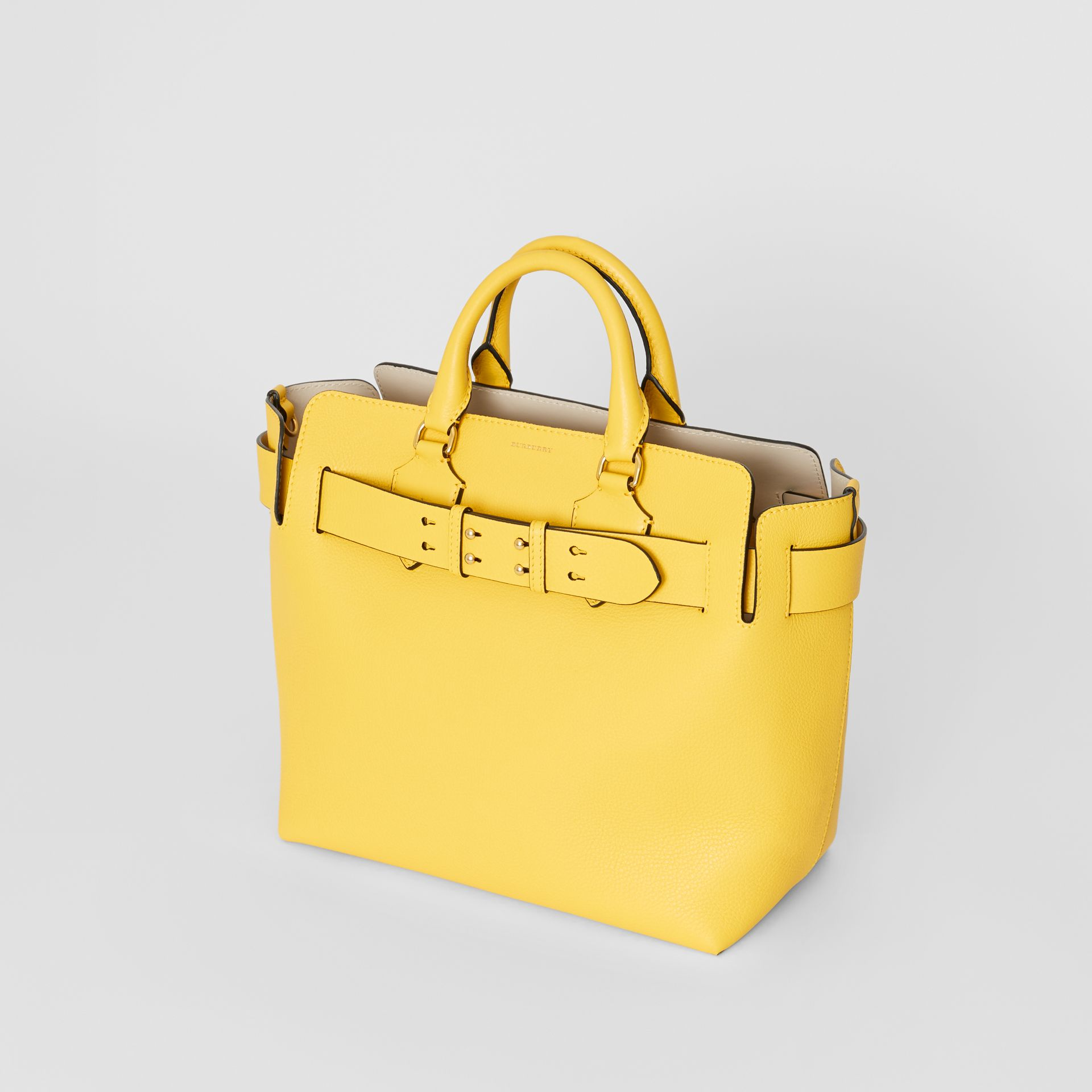 The Medium Leather Belt Bag in Bright Larch Yellow - Women | Burberry United States - gallery image 4