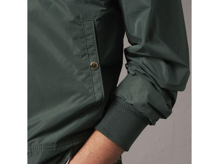 Shape-memory Taffeta Bomber Jacket in Smokey Green - Men | Burberry - cell image 4