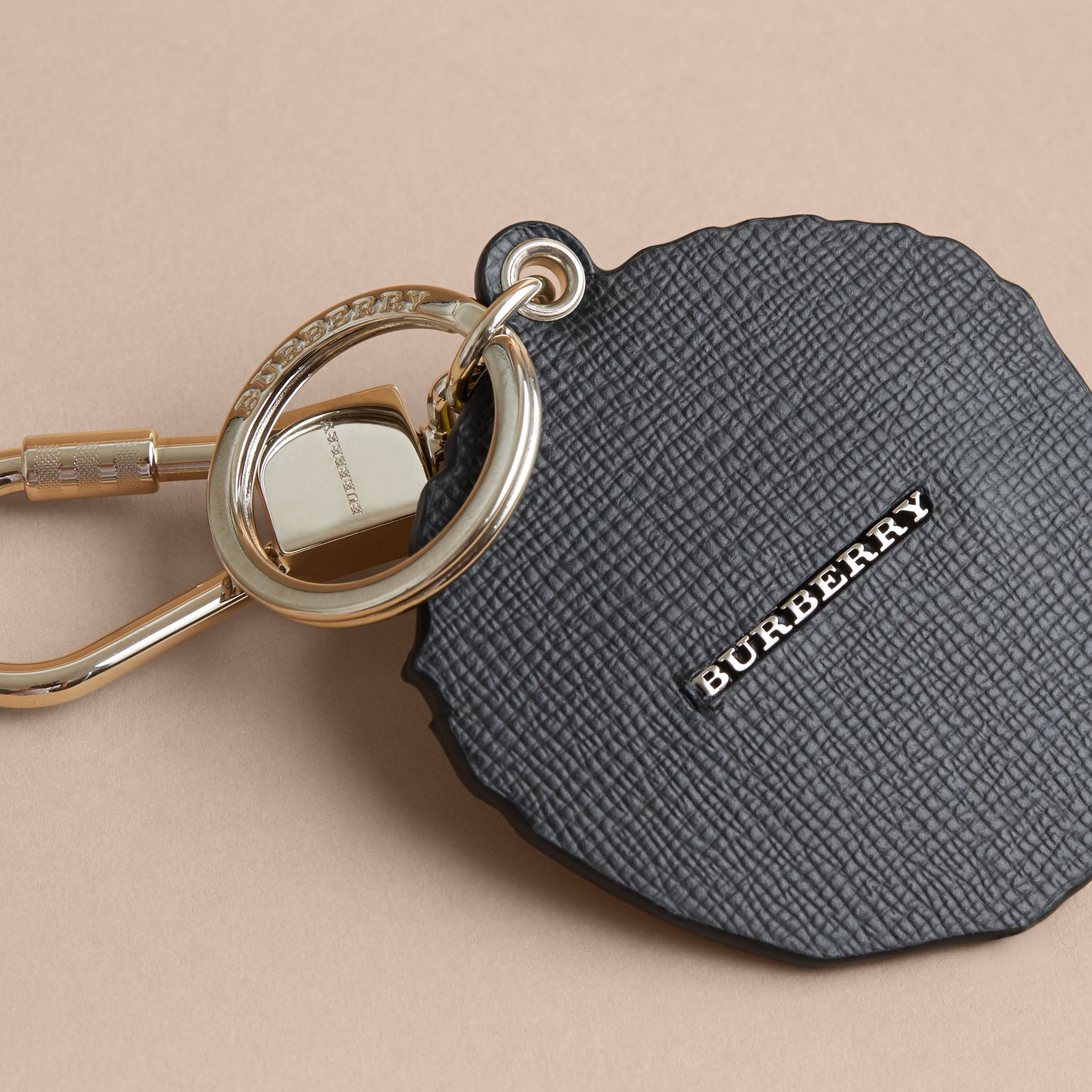 Pallas Heads Print Leather Key Ring - gallery image 2
