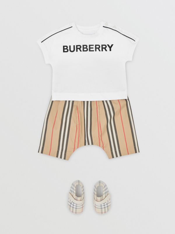 Logo Cotton T-shirt in White - Children | Burberry - cell image 2