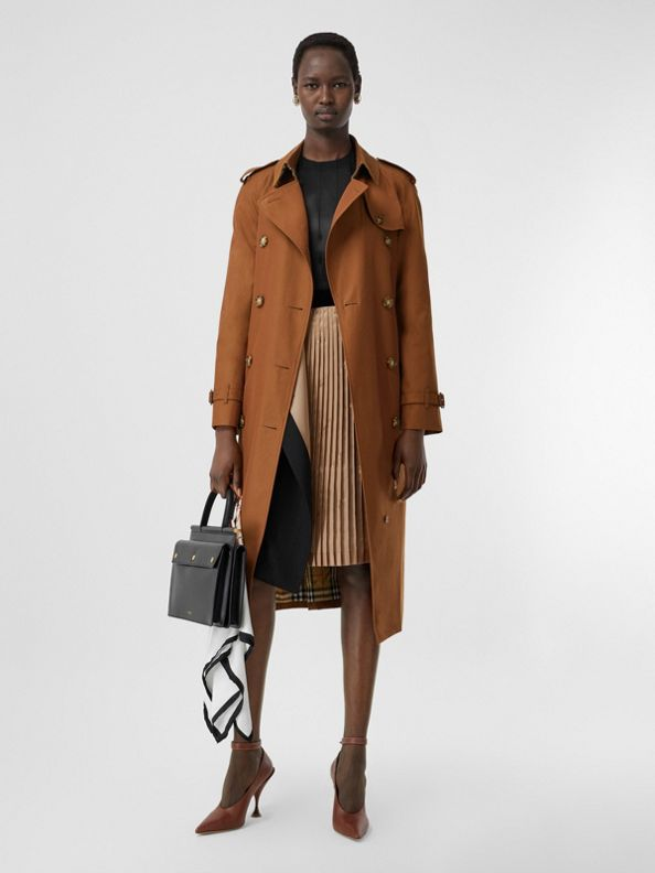 The Waterloo Trench Coat in Chestnut Brown