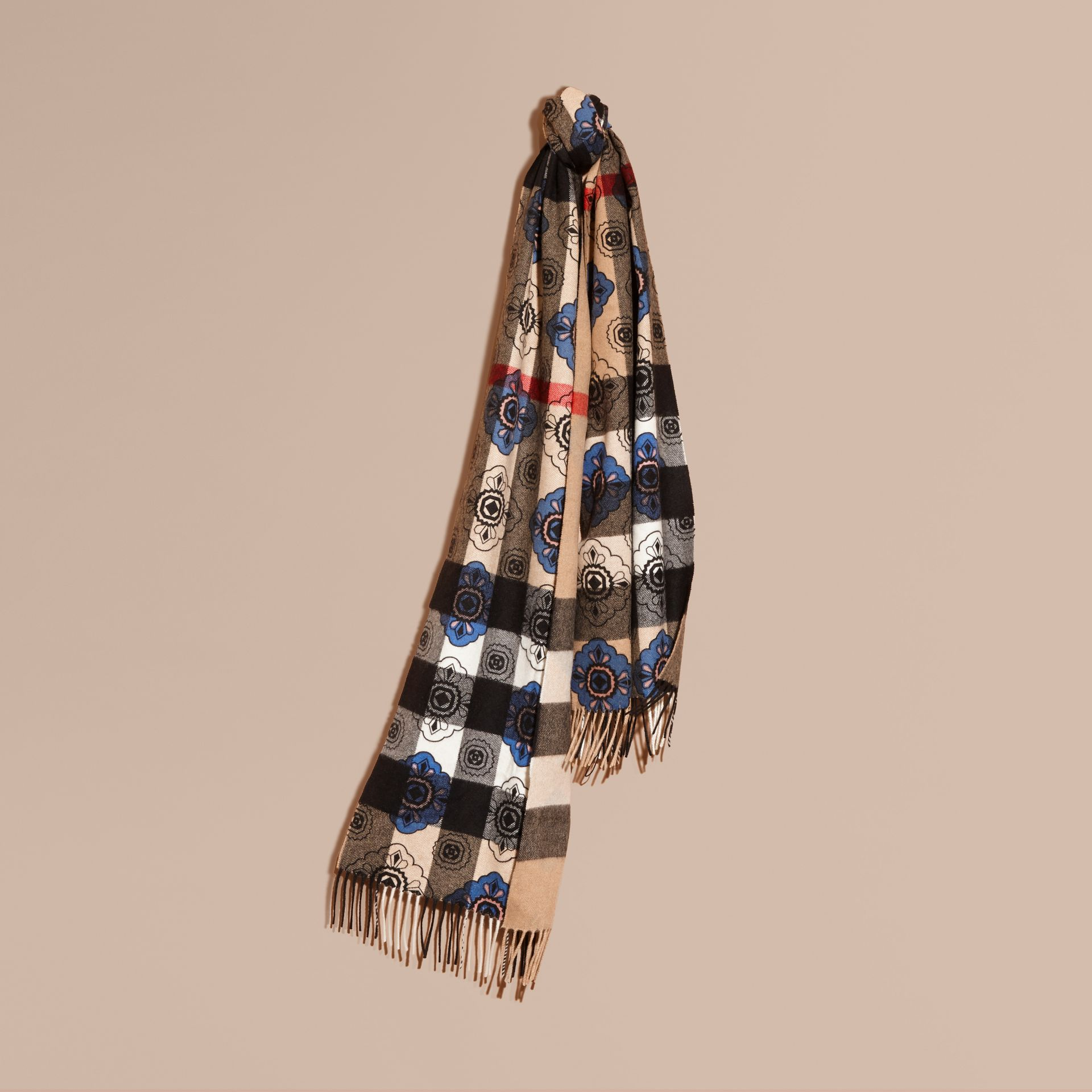 Двусторонний шарф с комбинированным принтом - изображение 6