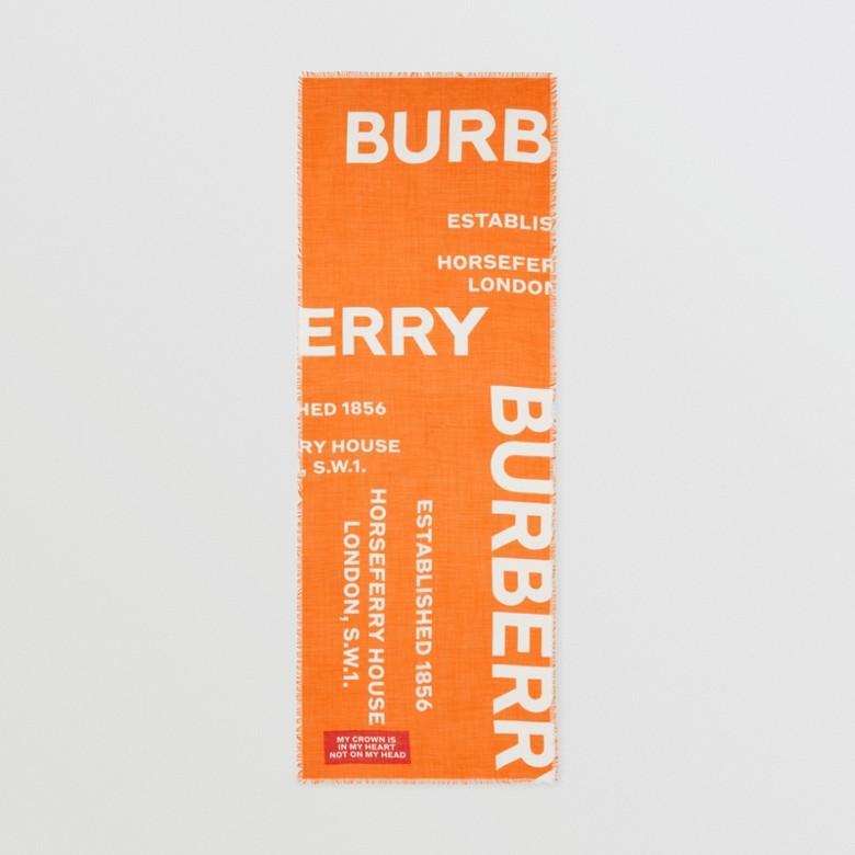 Burberry - Écharpe légère en laine et soie Horseferry - 6
