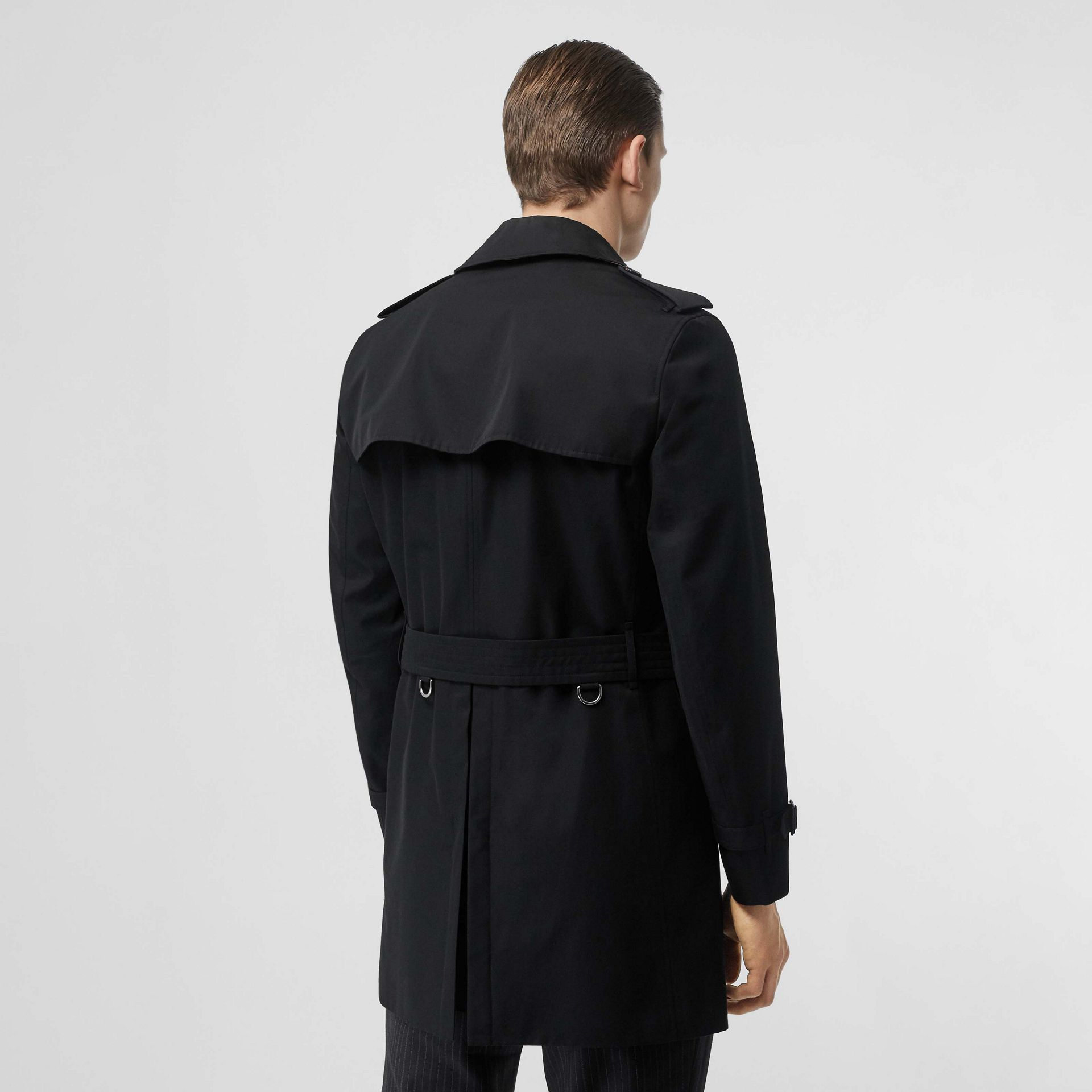 Cotton Gabardine Trench Coat in Black - Men | Burberry - gallery image 2