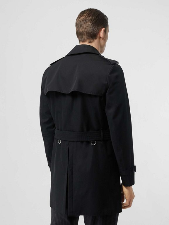 Cotton Gabardine Trench Coat in Black - Men | Burberry Australia - cell image 1