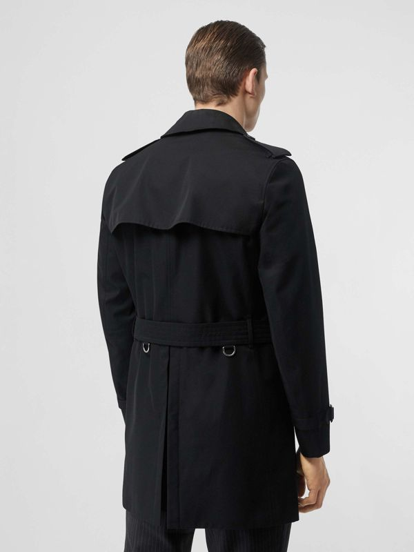 Cotton Gabardine Trench Coat in Black - Men | Burberry - cell image 2