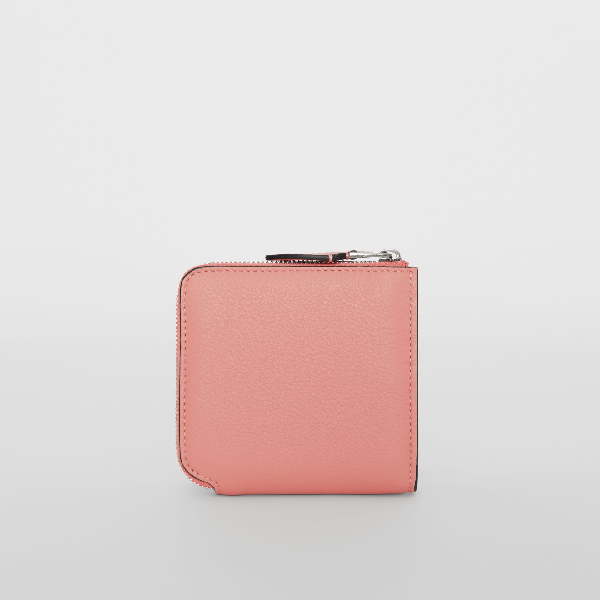 Grainy Leather Square Ziparound Wallet in Dusty Rose - Women | Burberry Singapore - gallery image 5